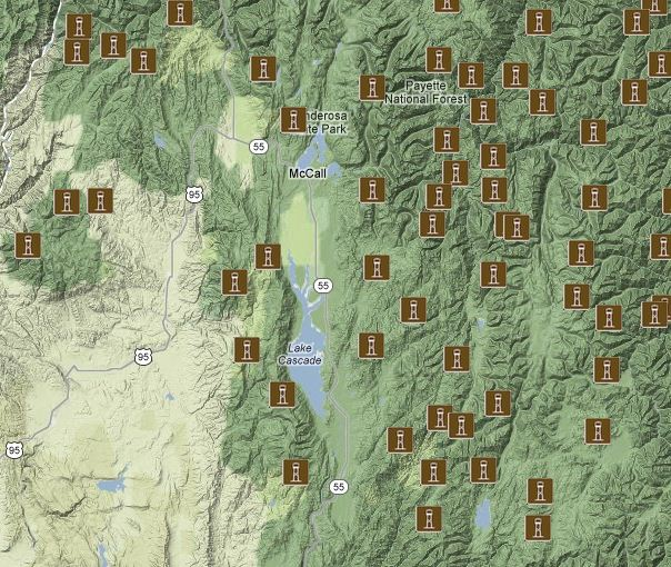 Fire Lookout Map