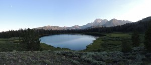 Panoramic view of Frog Lake.